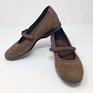 Aetrex~Suede~Mary Jane~Comfort Flats~Leather